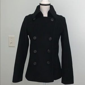J.Crew Womens Black Double Breasted Wool Coat 🧥